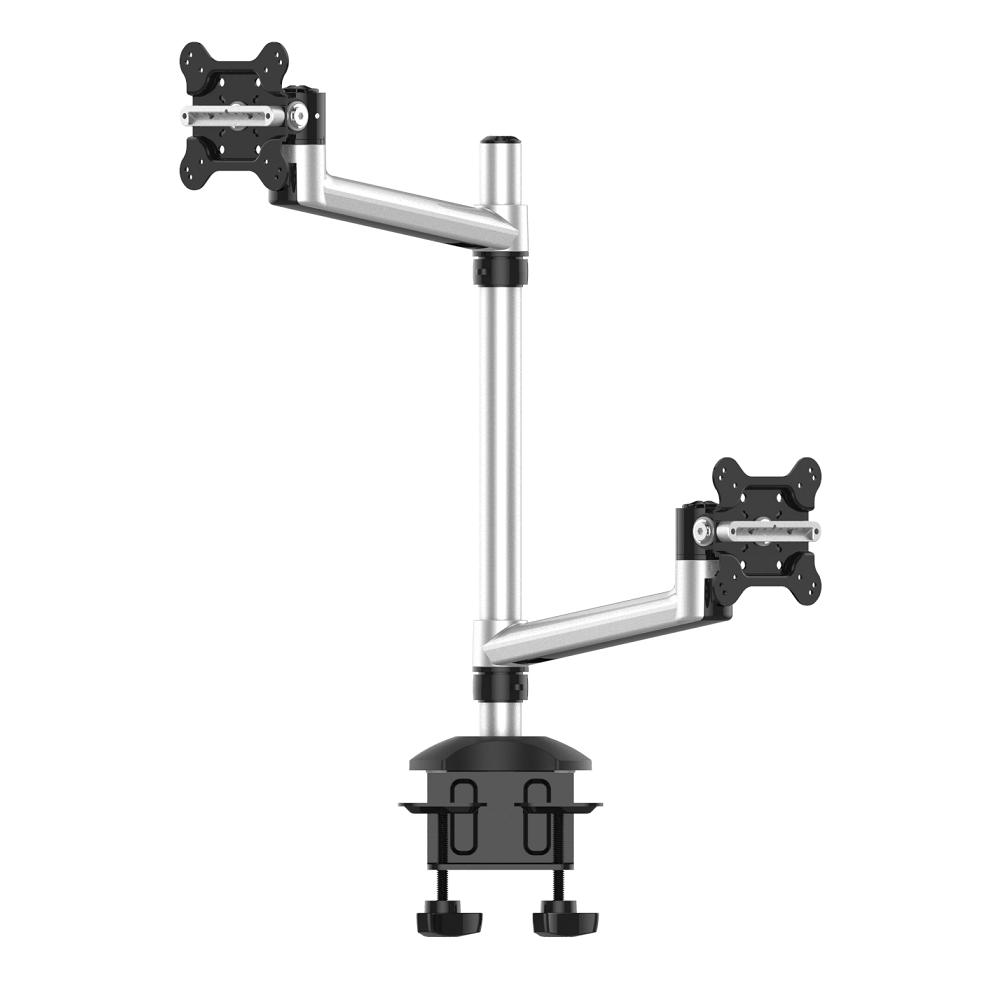 Dual Monitor Desk Mount for Apple Top Down w/ Single Arms
