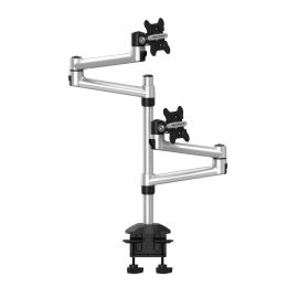 Dual Monitor Desk Mount for Apple Top Down Quick Release