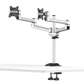 Dual Monitor Desk Mount for Apple Quick Release w/ Dual Swivel Arms