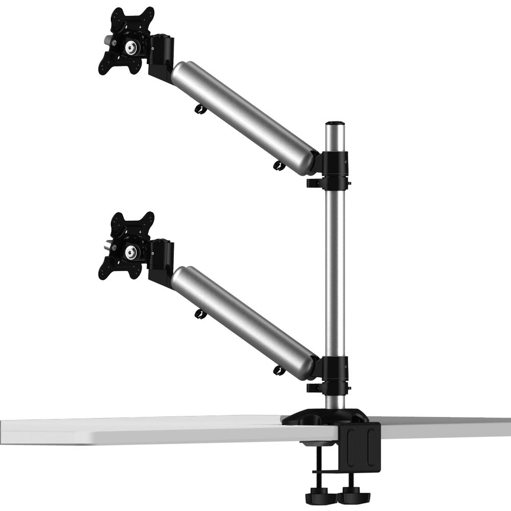 Dual Monitor Desk Mount For Apple Height Adjustable W