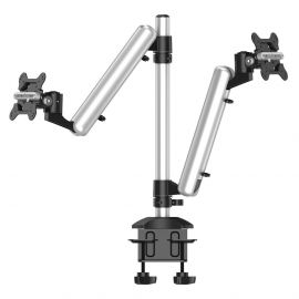 Dual Monitor Desk Mount for Apple Height Adjustable w/ Quick Release