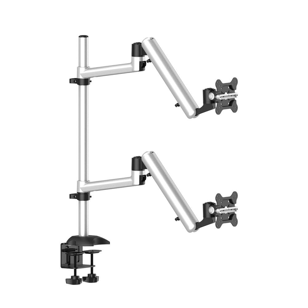 Dual Monitor Desk Mount for Apple Top Down or Side by Side