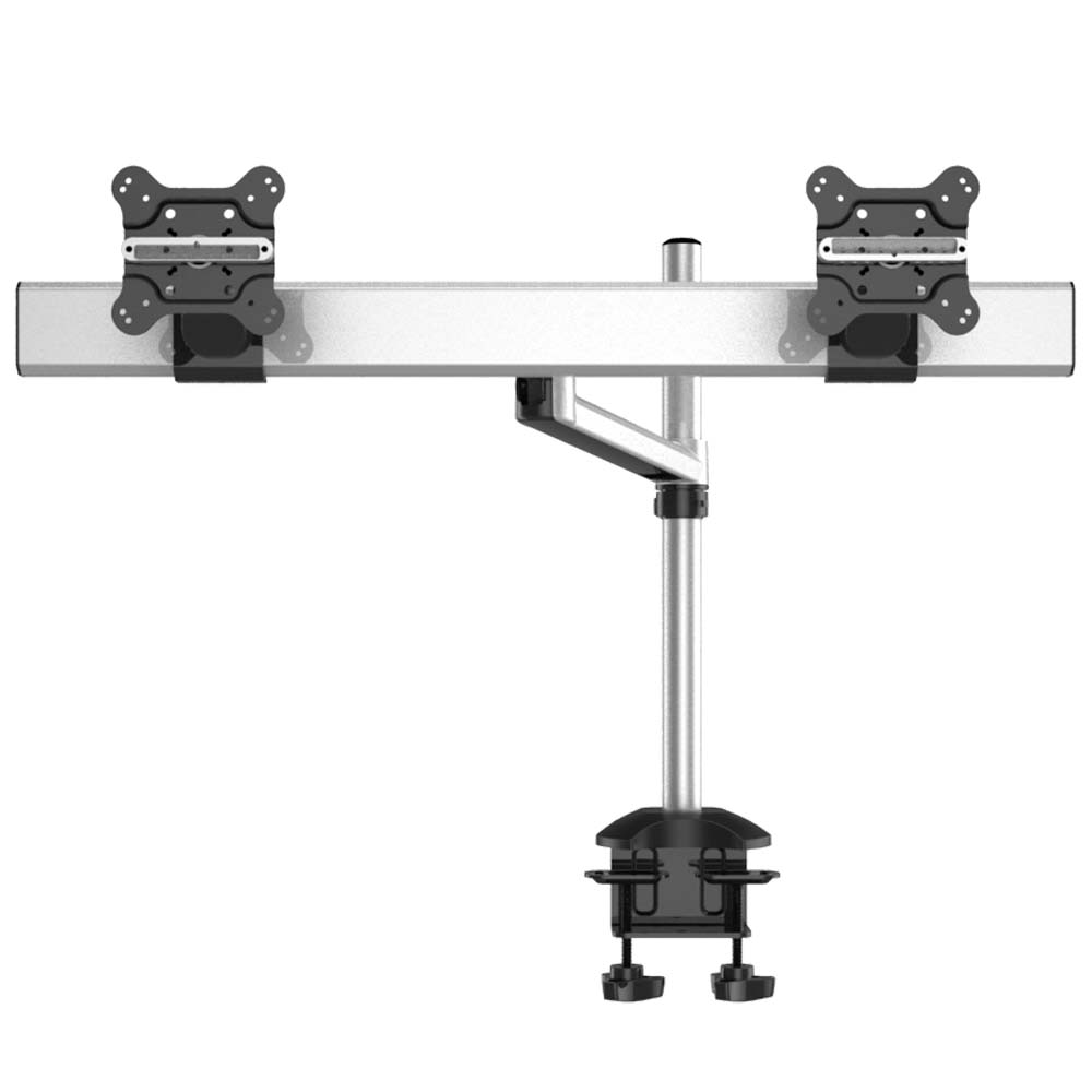Dual Monitor Desk Mount for Apple w/ Quick Release Single Arm