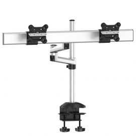 Dual Monitor Desk Mount for Apple Quick Release w/ Dual Arm