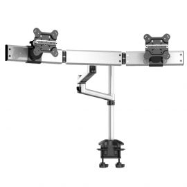 Dual Monitor Desk Mount for Apple w/ 2-in-1 Base & Dual Arm