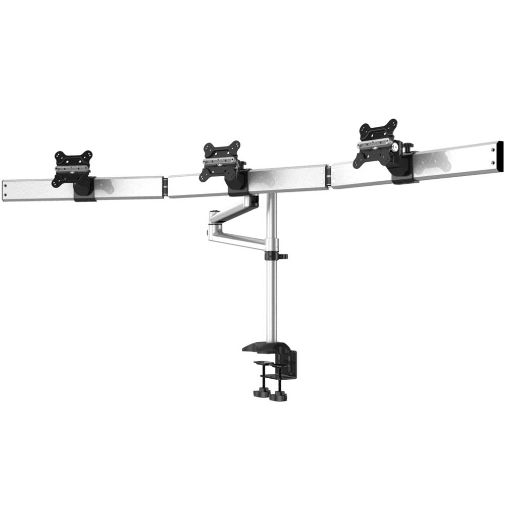 Triple Monitor Desk Mount For Apple Quick Release W Dual Arm