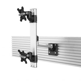 Dual Apple VESA Mount for Slatwall Stacking Extending Quick Release