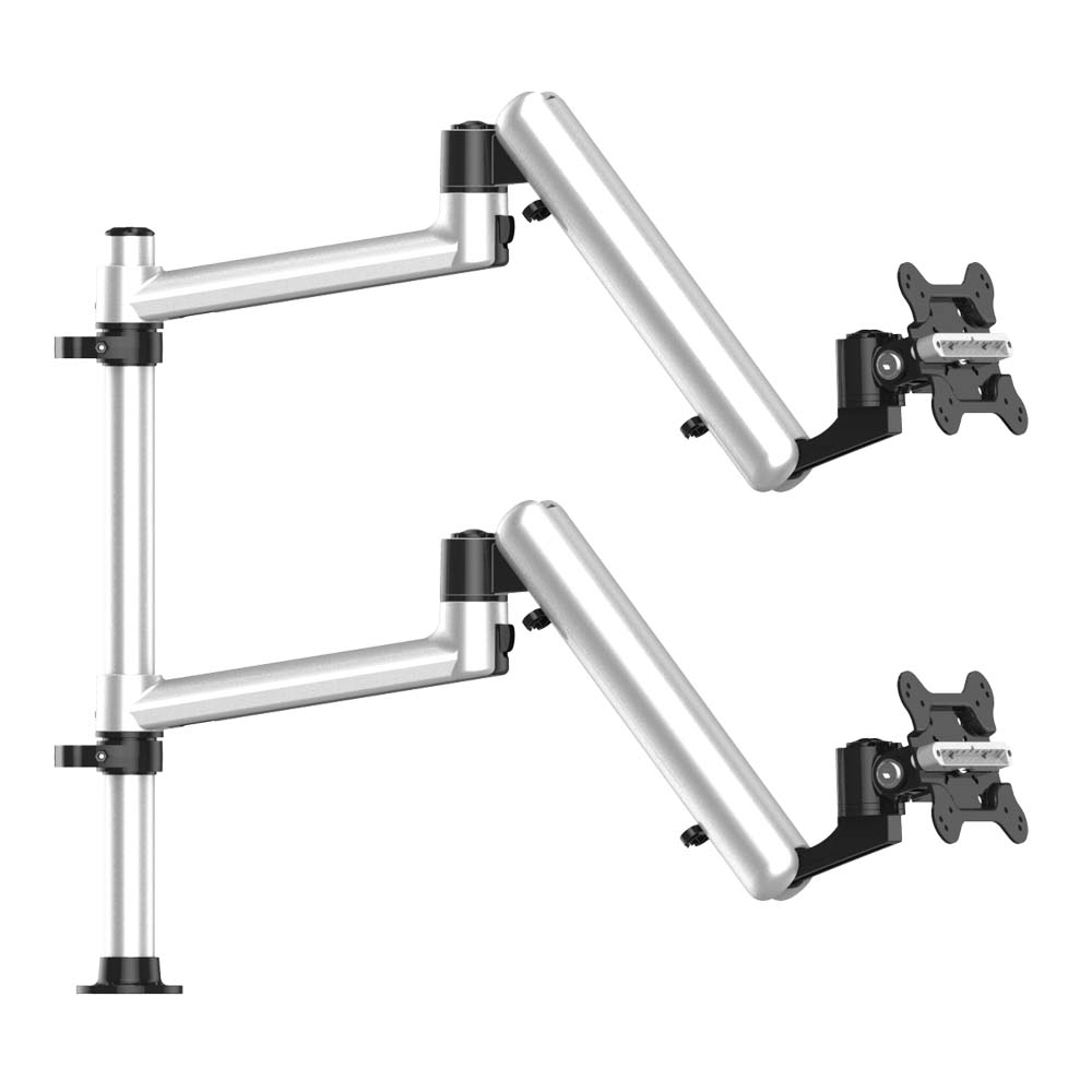 Dual Track Rail Mount for Apple Display w/ Full Motion Spring Arms