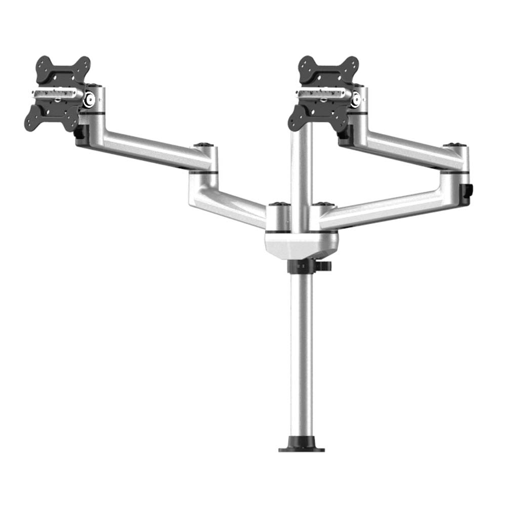 Dual Track Rail Mount for Apple Display w/ Quick Release Dual Arms