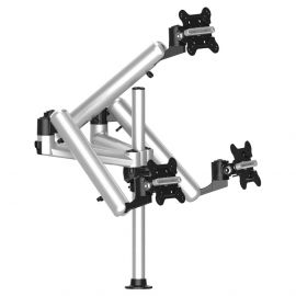 Triple Track Rail Mount for Apple Display w/ Full Motion Arms
