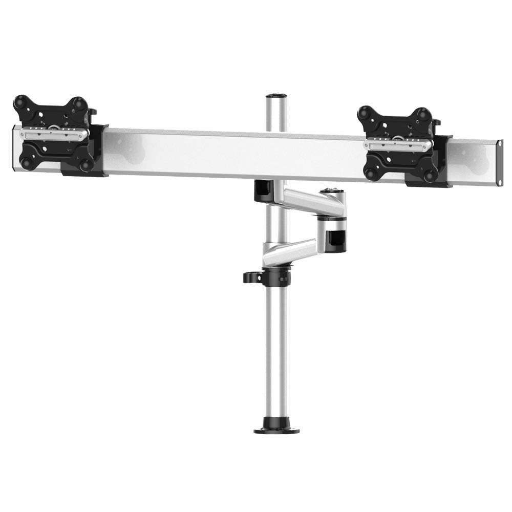 Dual Track Rail Mount for Apple Display w/ Quick Release Dual Arm