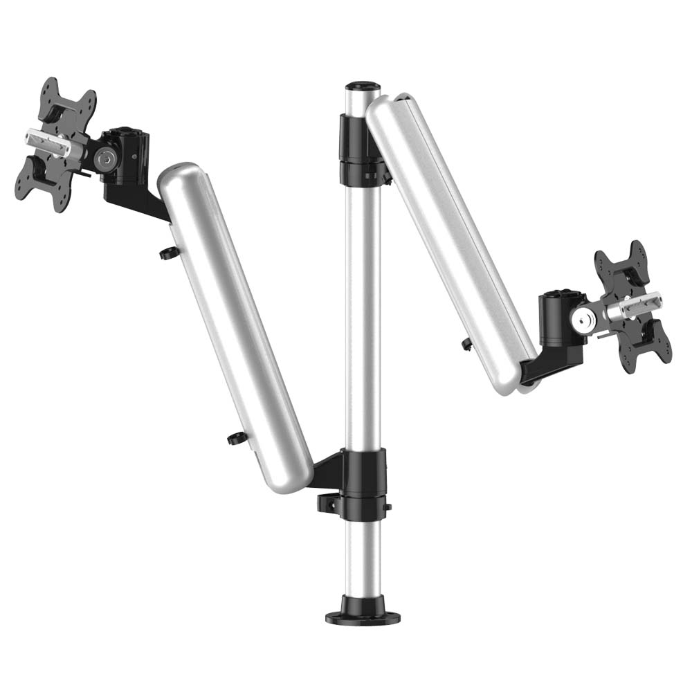 Dual Track Rail Mount for Apple Display w/ Quick Release Spring Arms