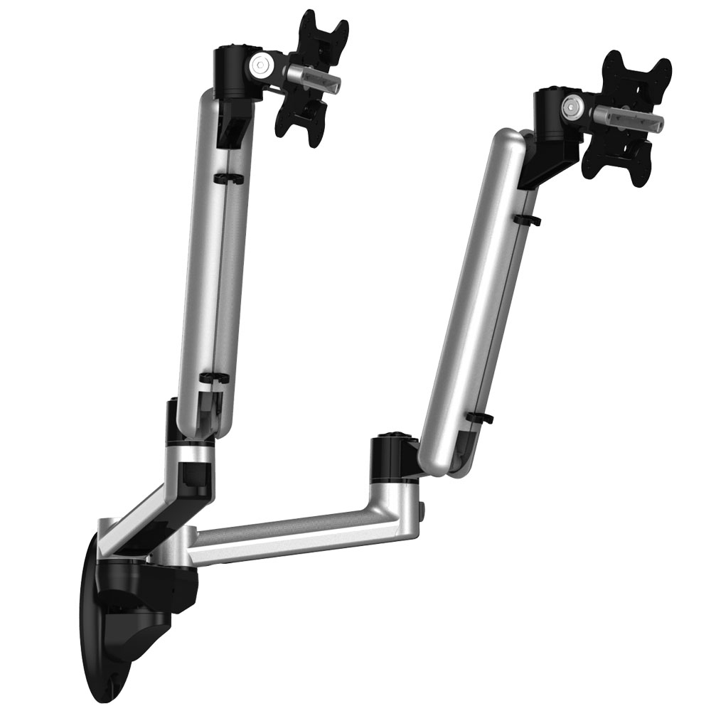 Dual Monitor Wall Mount For Apple Full Motion W Quick Release