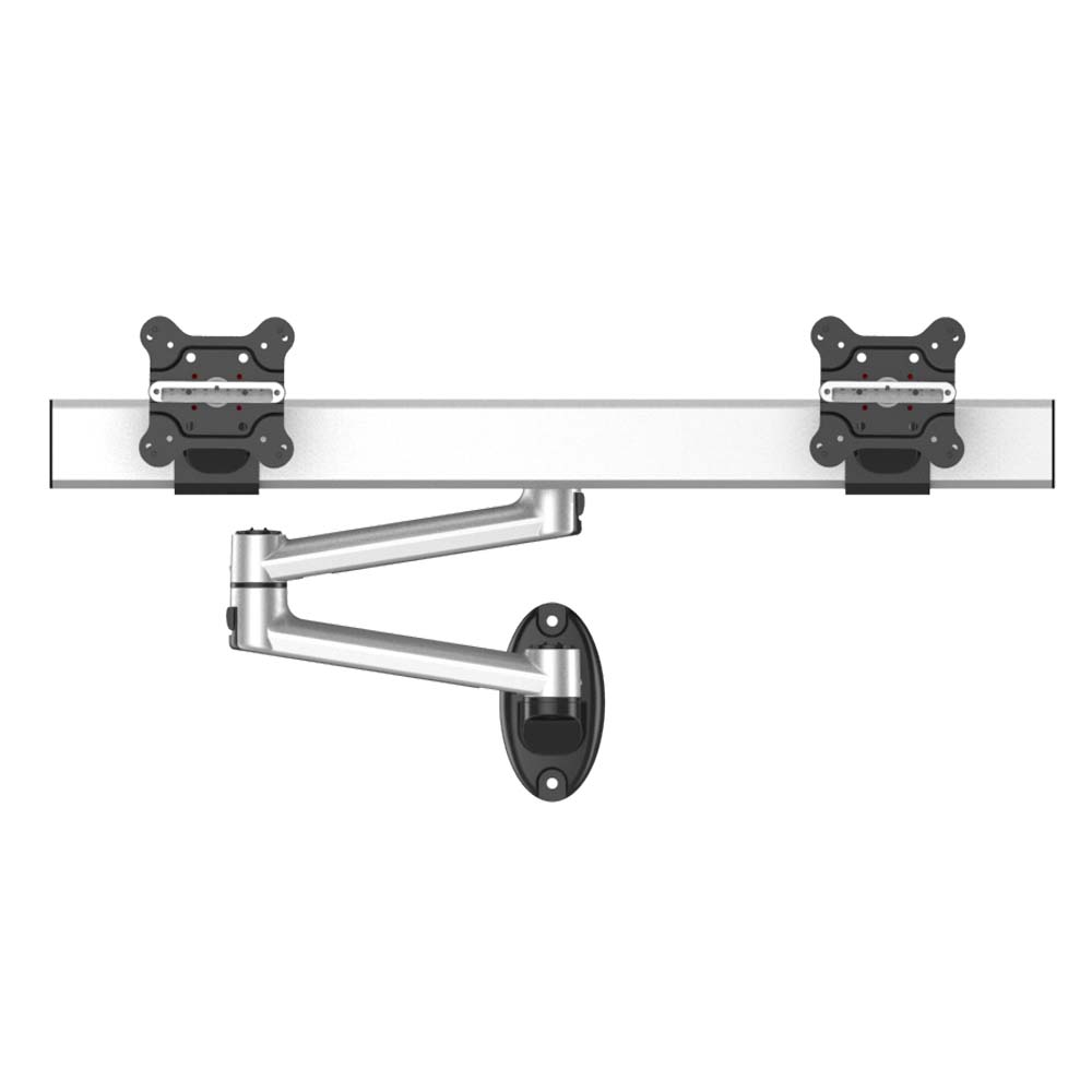 Dual Monitor Wall Mount for Apple Side by Side w/ Quick Release
