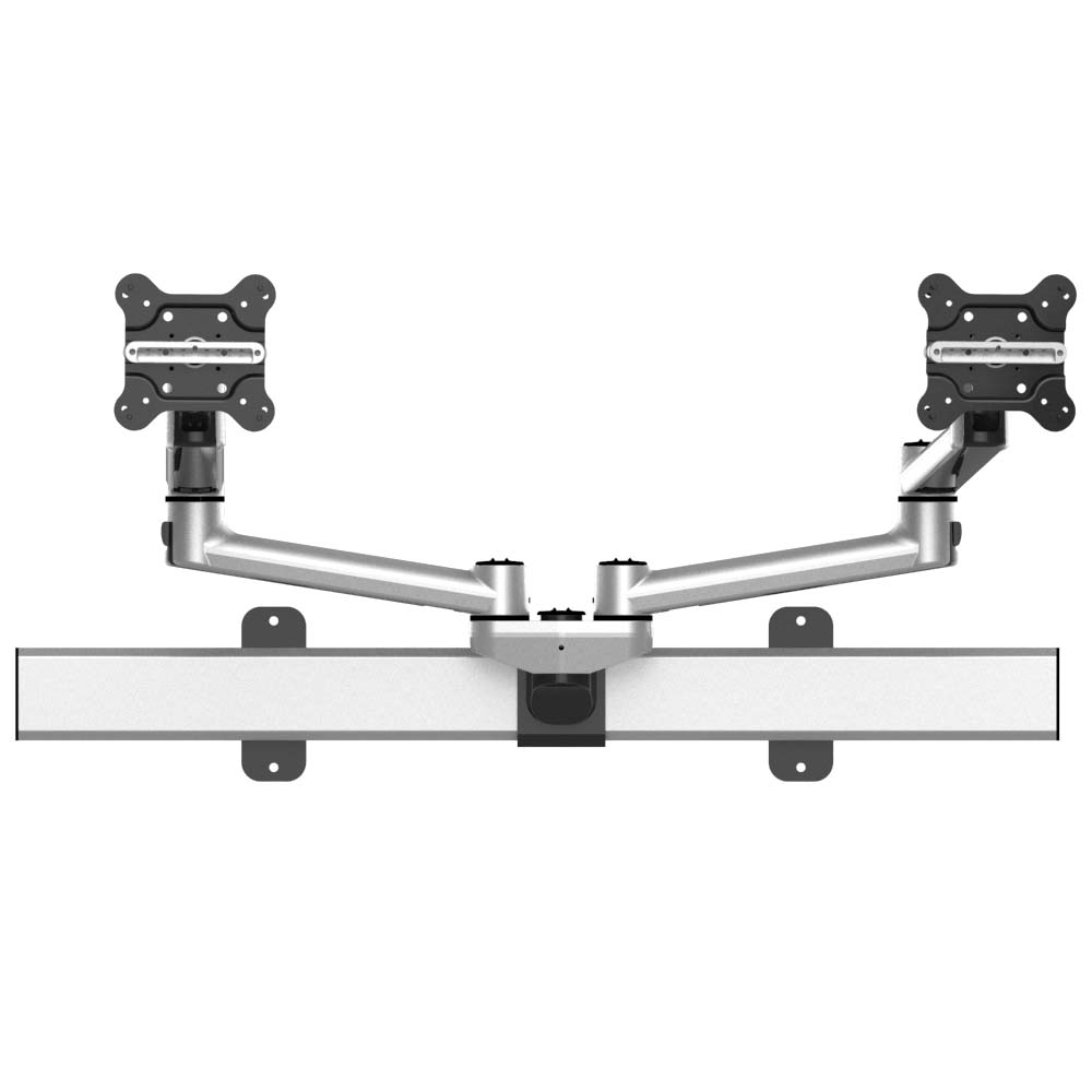 Dual Monitor Wall Mount for Apple Quick Release Simultaneous Slider
