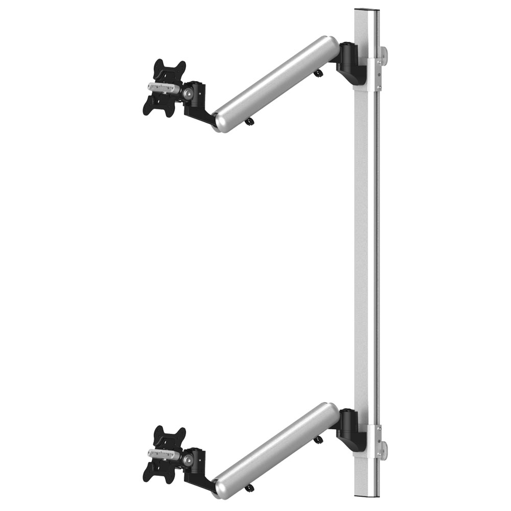 Dual Monitor Wall Mount For Apple Height Adjustable W