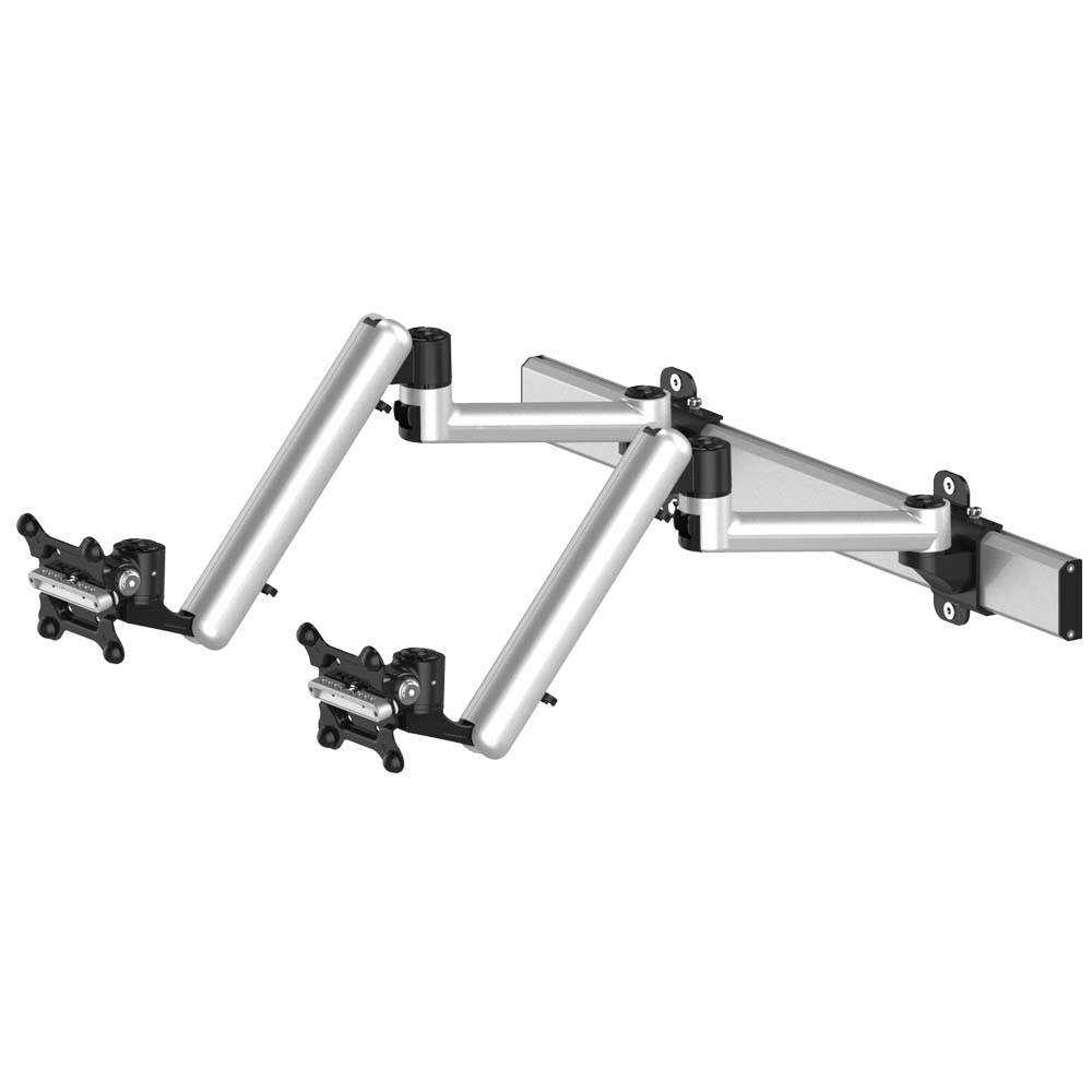 Dual Monitor Wall Mount For Apple W Quick Release Full Motion