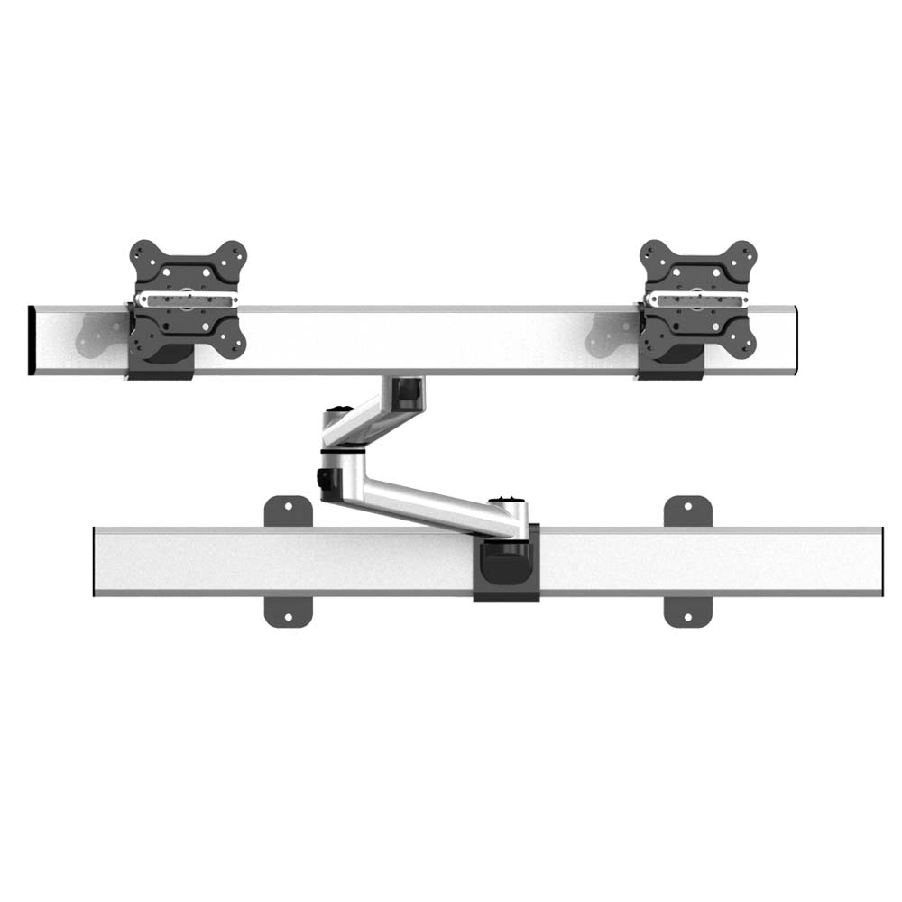Dual Monitor Wall Mount for Apple Quick Release w/ Dual Arms