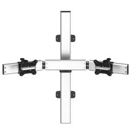 Dual Monitor Wall Mount for Apple Low Profile w/ Quick Release