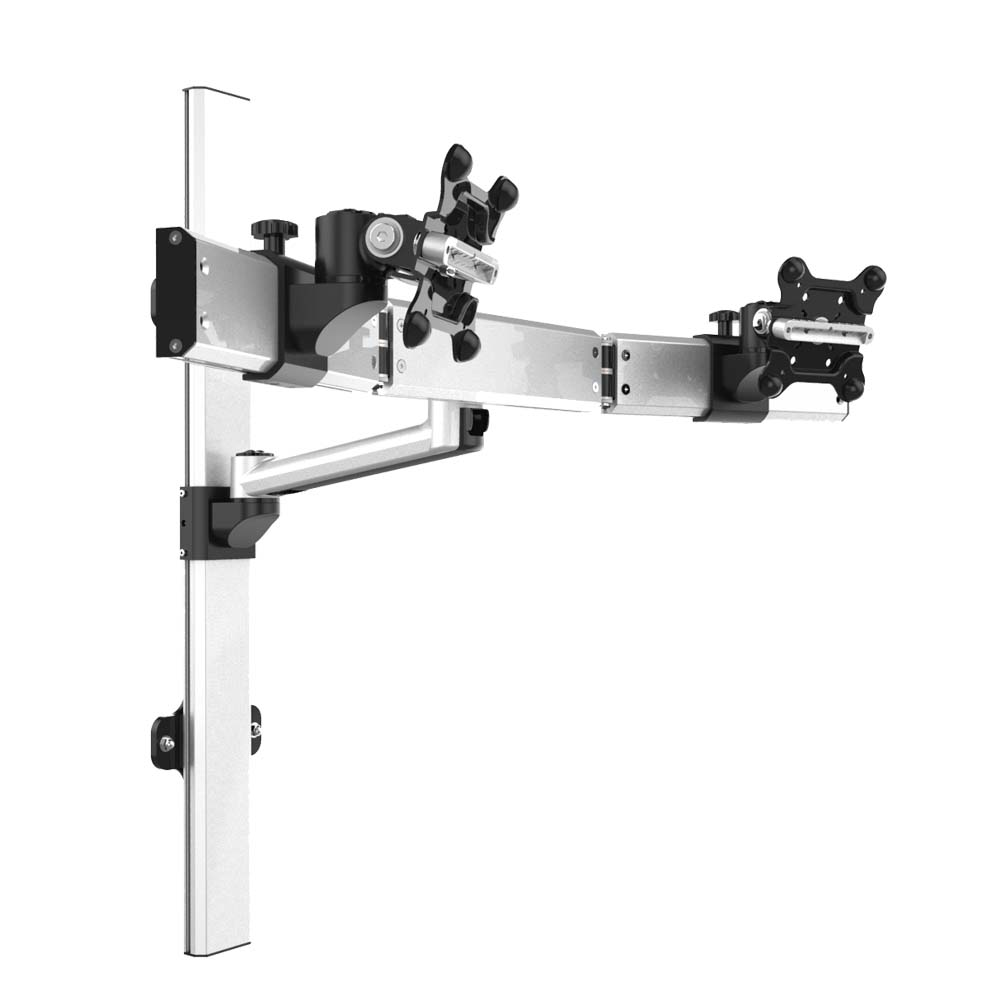 Dual Monitor Wall Mount For Apple Quick Release Single Arm
