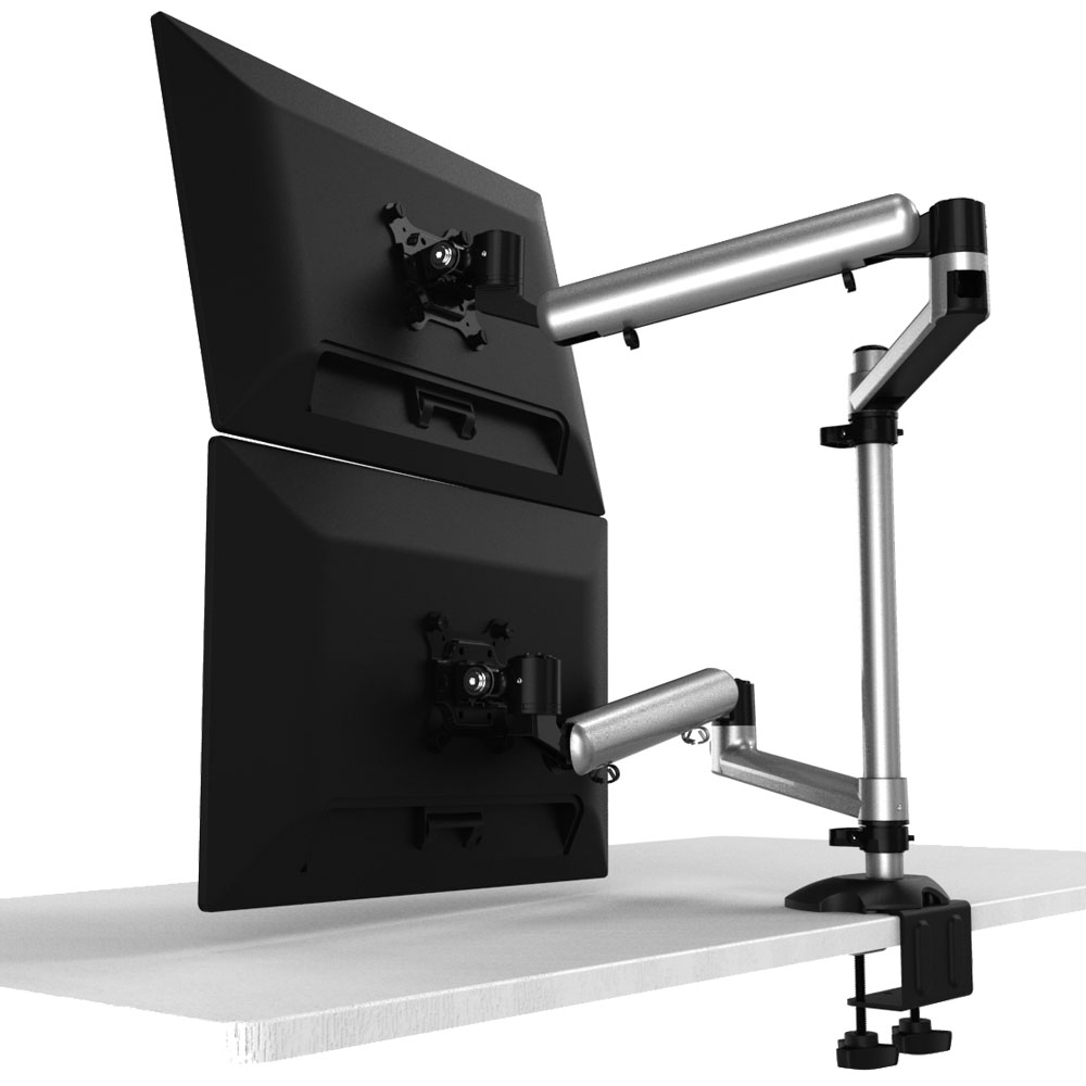 Dual Monitor Stand Top Down W Quick Release Bl Dm135