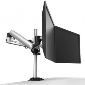 Dual Monitor Stand w/ Independent Full Motion & Quick Release