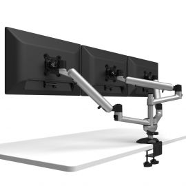 Triple Monitor Desk Mount w/ Independent Full Motion & Quick Release