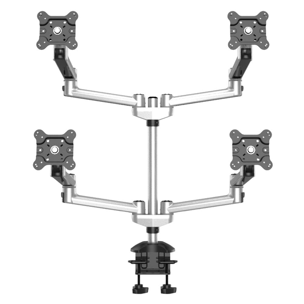 Quad Monitor Stand 2X2 w/ Quick Release & Dual Arms