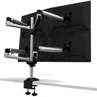 Quad Monitor Stand w/ Independent Full Motion & Quick Release