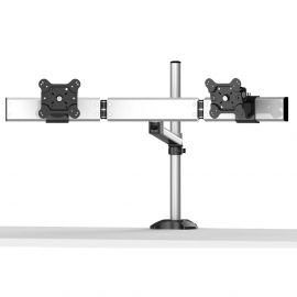 Dual Monitor Stand Oval or Straight w/ Quick Release Single Arm
