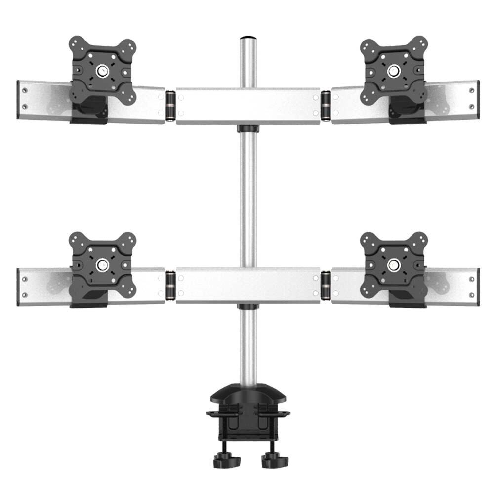 Quad Monitor Stand 2X2 w/ Quick Release & Low Profile