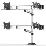 Quad Monitor Stand 2X2 w/ Quick Release & Single Arm