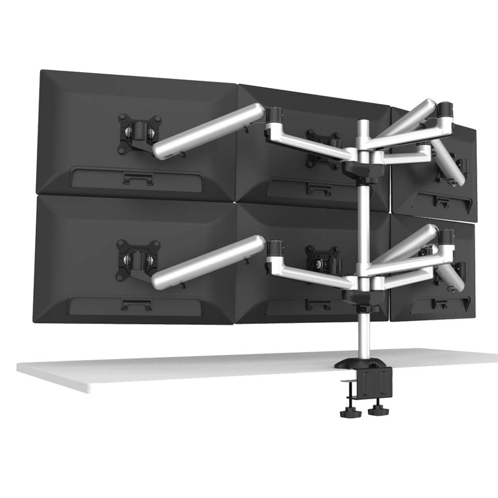 6 Monitor Stand 3X2 w/ Independent Full Motion & Quick Release