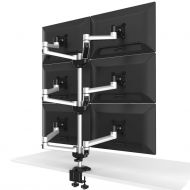 6 Monitor Stand 3X2 w/ Quick Release Dual Arms