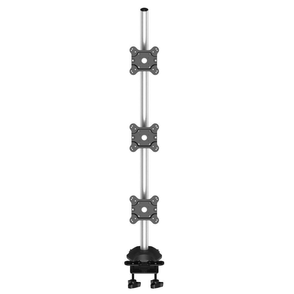 Triple Monitor Desk Mount W Long Pole Amp 2 In 1 Base