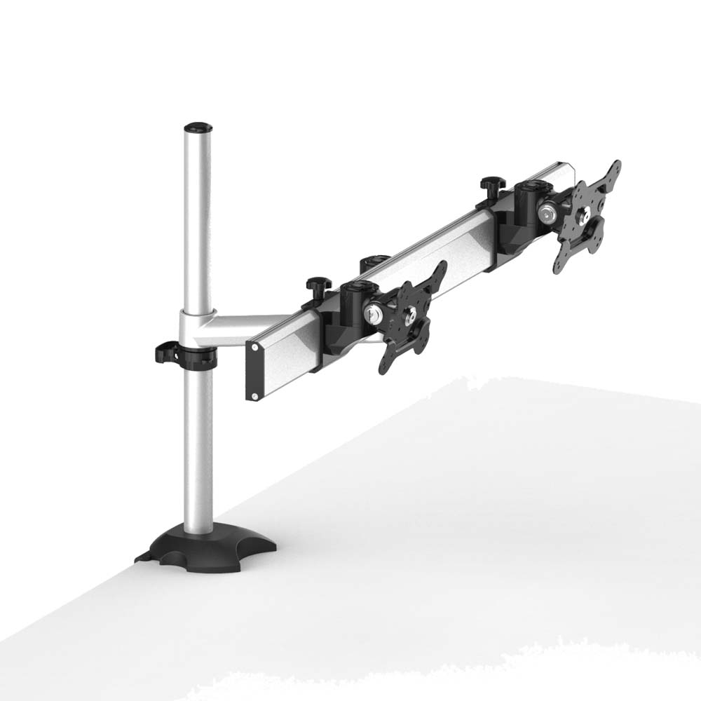 Dual Monitor Stand w/ Quick Release Single Arm