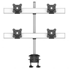 Quad Monitor Stand 2X2 Low Profile w/ Quick Release