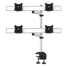 Quad Monitor Stand 2X2 w/ Quick Release Single Arms
