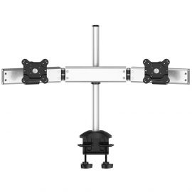 Dual Monitor Stand Oval or Straight Low Profile w/ Quick Release