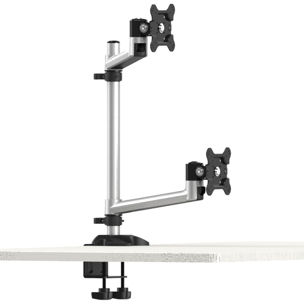 Dual Monitor Stand W 2 In 1 Base Bl Dm131