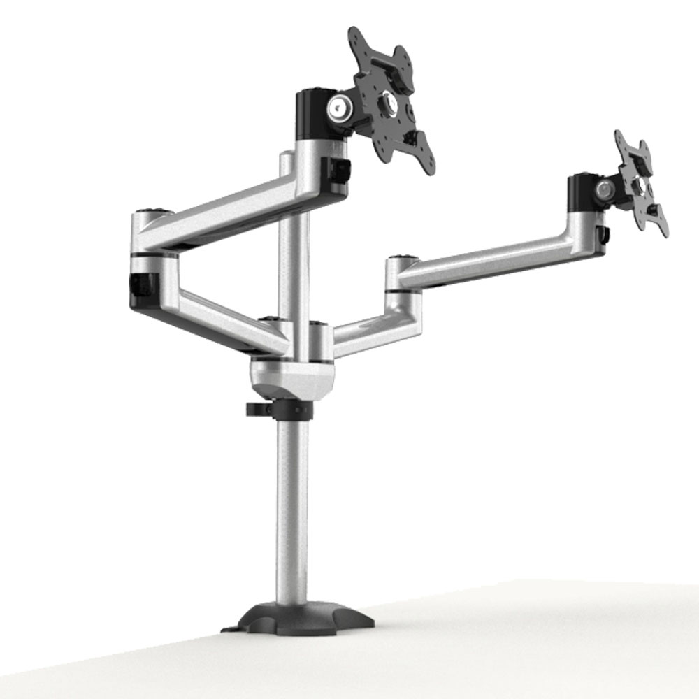 Dual Monitor Stand W 2 In 1 Base Bl Dm133