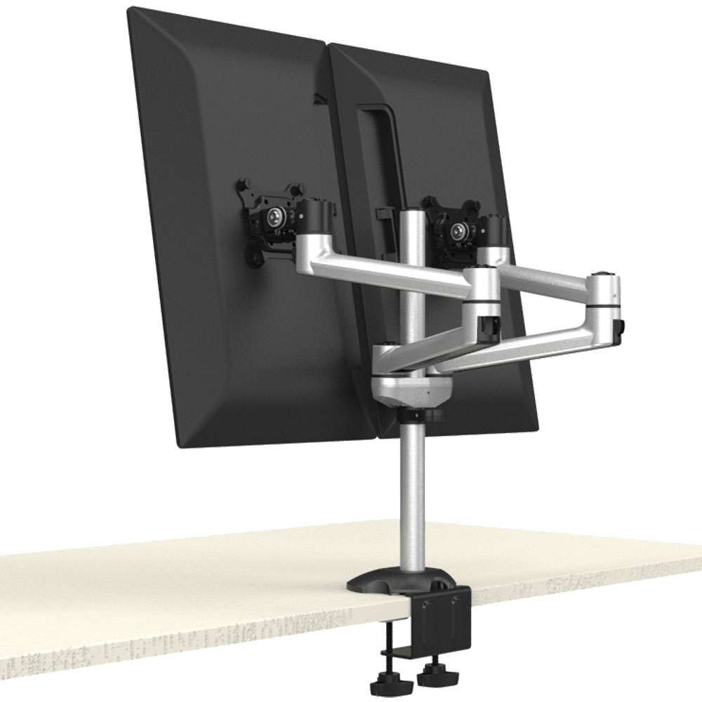Dual Monitor Stand Side By Side W Quick Release Amp Dual Arms
