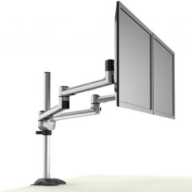 Dual Monitor Stand Side by Side w/ Quick Release & Dual Arms