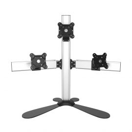 Triple Monitor Stand Quick Release w/ Pyramid Setup