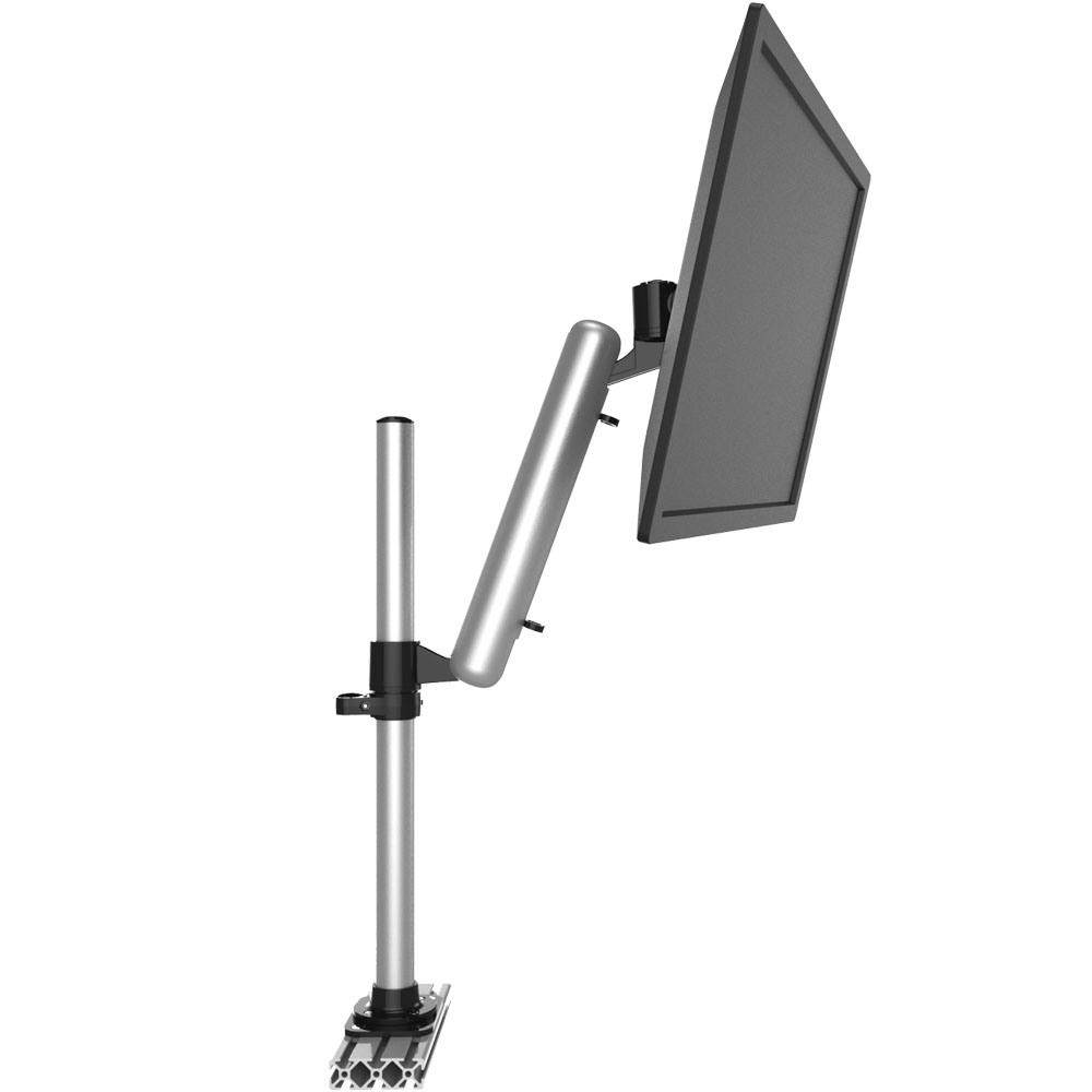 Aluminum Extrusion VESA Mount Height Adjustable w/ Quick Release
