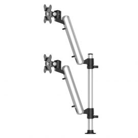 Dual Track Rail Mount Up & Down Height Adjustable w/ Quick Release