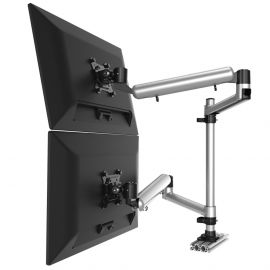 Dual Track Rail Mount Side by Side or Up & Down Full Motion