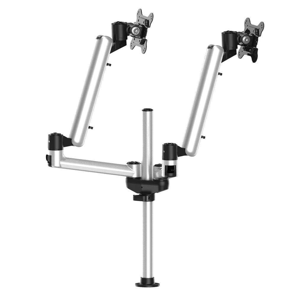 Dual Track Rail Mount w/ Independent Full Motion & Quick Release