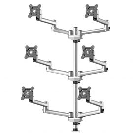 6 Track Rail Mount 3X2 w/ Quick Release Dual Arms