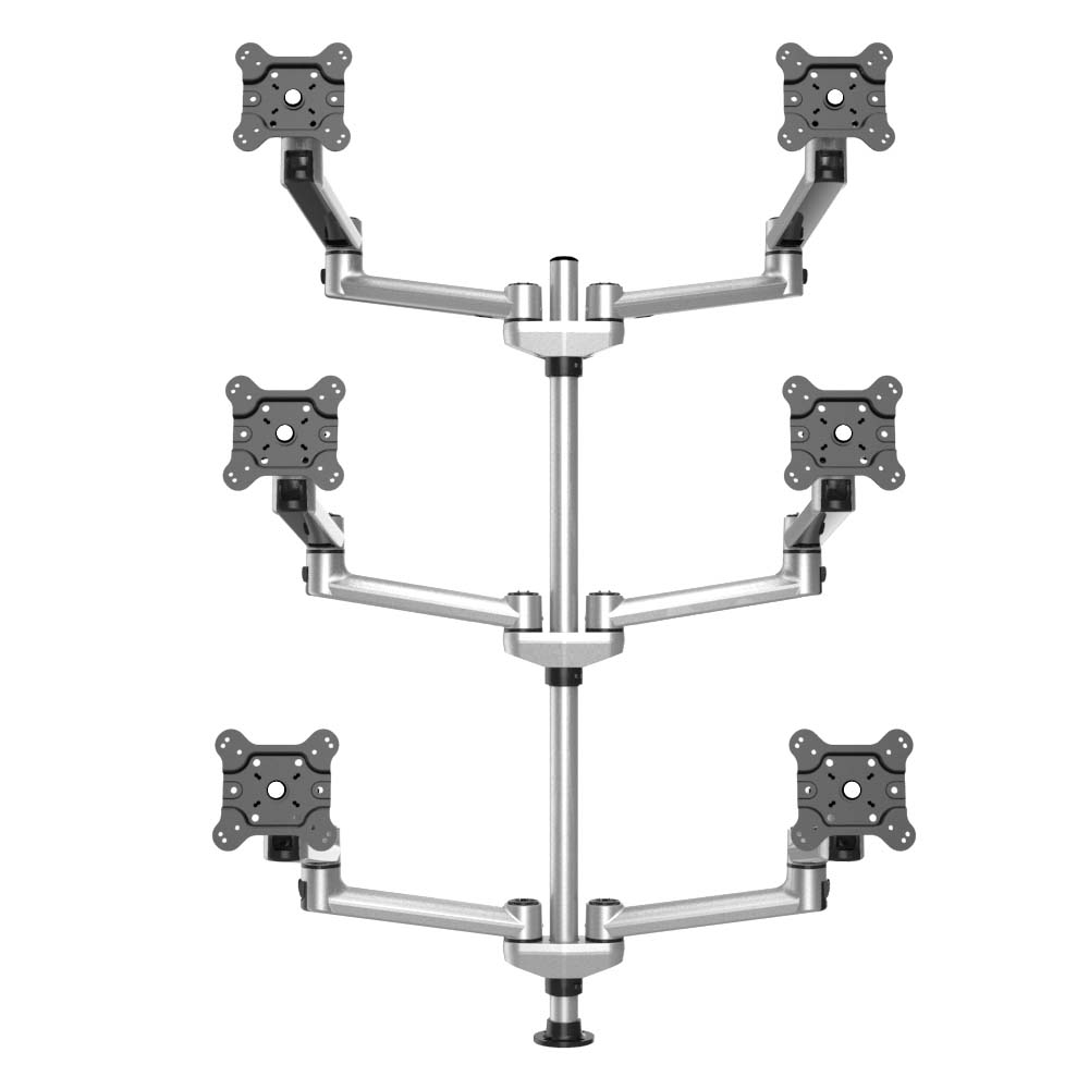 6 Track Rail Mount 3x2 W Quick Release Dual Arms